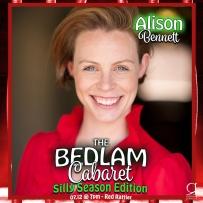 Bedlam Cabaret Silly Season - Performer Card - Alison Bennett